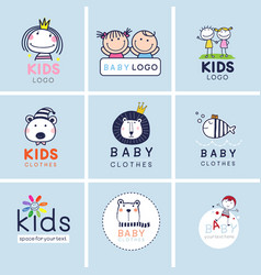 creative signs symbols and logo set brand vector image vector image