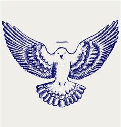 Dove symbol vector image vector image