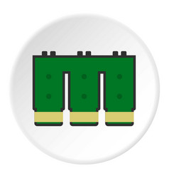 Electronic circuit board icon circle vector