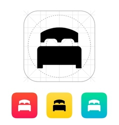 Full bed icon vector