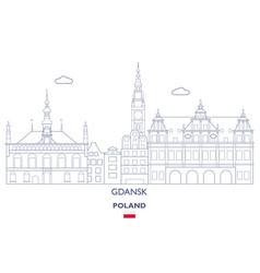 Gdansk linear city skyline vector