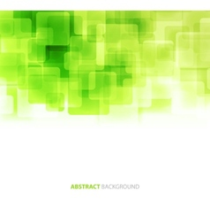 Green shiny squares technical background vector image vector image