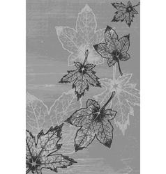 Grunge leaves background vector