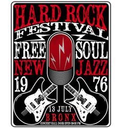 hard rock music poster vector image