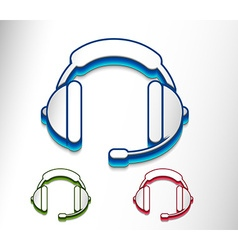 headset web icon vector image