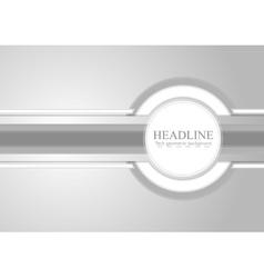Hi-tech light grey corporate background vector