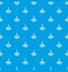 Jet fighter plane pattern seamless blue vector