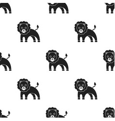 lion black icon for web and mobile vector image vector image