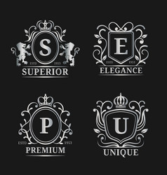 monogram logo templates luxury letters vector image