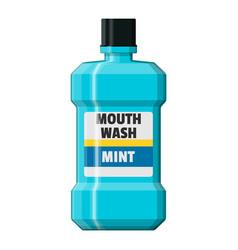 mouthwash plastic bottle oralcare equipment vector image