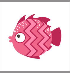 pink zigzag pattern fantastic colorful aquarium vector image vector image