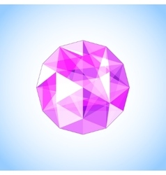 Realistic purple amethyst shaped Gem vector image vector image