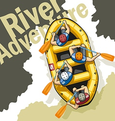 River Adventure vector image vector image