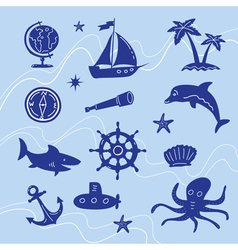 sea adventure set vector image vector image