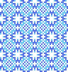 Seamless texture abstract embroidered blue pattern vector