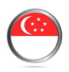Singapore flag button vector image vector image