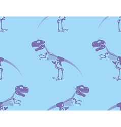Skeleton t-rex seamless pattern purple cute bone vector
