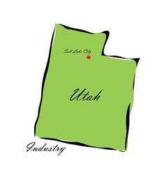 State of Utah vector image
