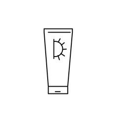 sun cream icon vector image