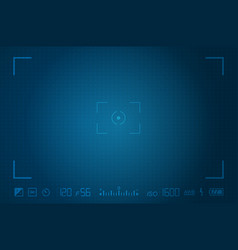 video camera viewfinder template vector image vector image