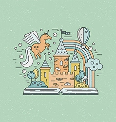 Vintage fairytale vector