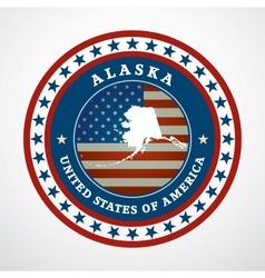 Vintage label alaska vector