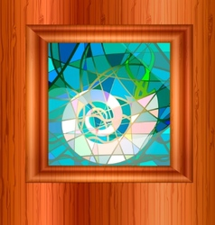 wood and stained glass vector image