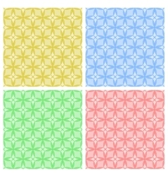 Seamless patterns geometric backgrounds vector