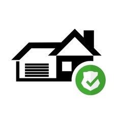Pictogram home security graphic icon vector