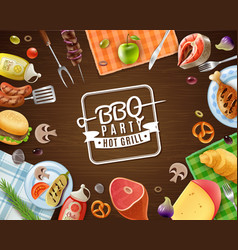 bbq party frame vector image