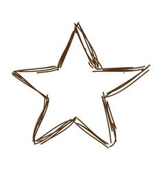 Christmas star light decoration vintage engraved vector