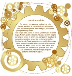 Metallic gears background vector