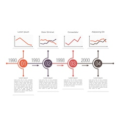 Business timeline design vector