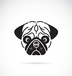 Pugs face vector image