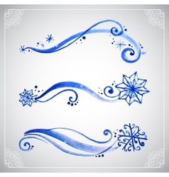 Watercolor winter frost ornament vector