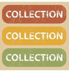 Vintage collection stamp set vector