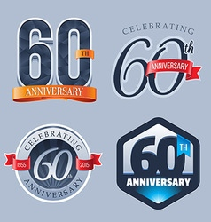 60 years anniversary logo vector