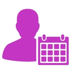 Patient calendar icon vector