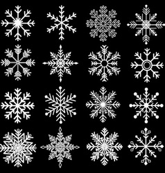 Chalkboard snowflakes silhouette vector