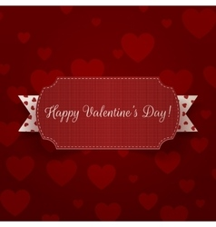 Horizontal realistic valentines day banner vector