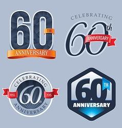 60 years anniversary logo vector