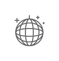 Disco ball line icon vector