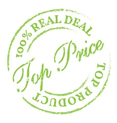 Green top price stamp vector