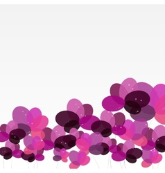 Abstract background with flowers vector