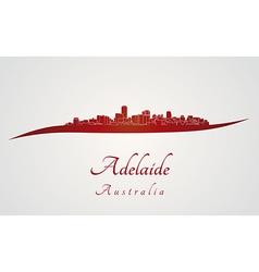 Adelaide skyline in red vector