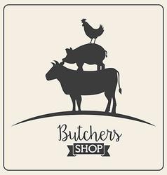 Butcher concept vector