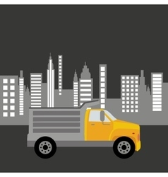 dump truck city background graphic vector image