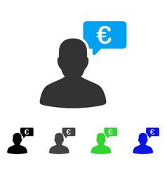 Euro user opinion flat icon vector