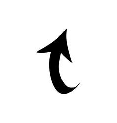 Flat black arrow icon vector