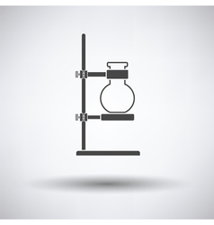 Icon of chemistry flask griped in stand vector